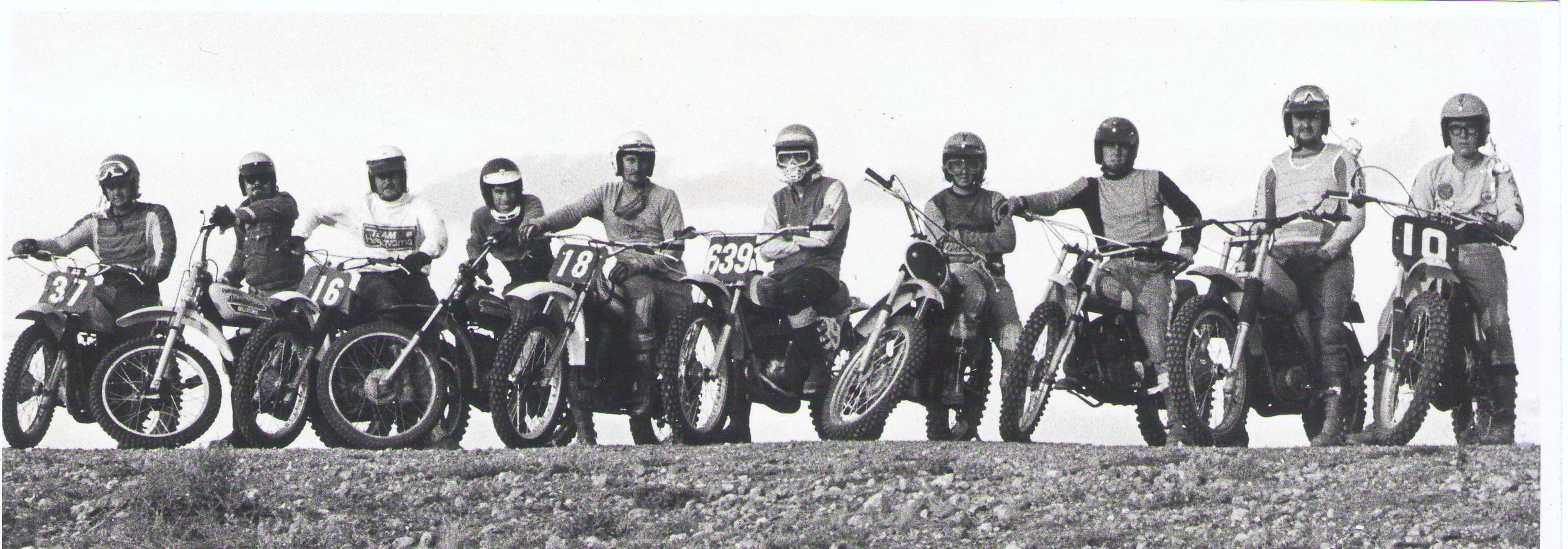 SCMCC 1973 Riders for Pt Pirie MX Easter