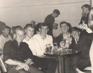 This other one is from End of 67' when we were on Stoker course at Cerberus and on leave at the George Hotel, St. Kilda chasing ugly women…Monte, myself, Dave Ardrey, Paul Ferres and Rod Withers.