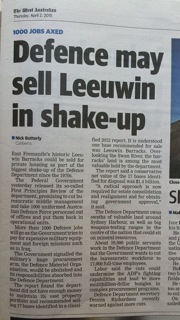 Sale of Leeuwin