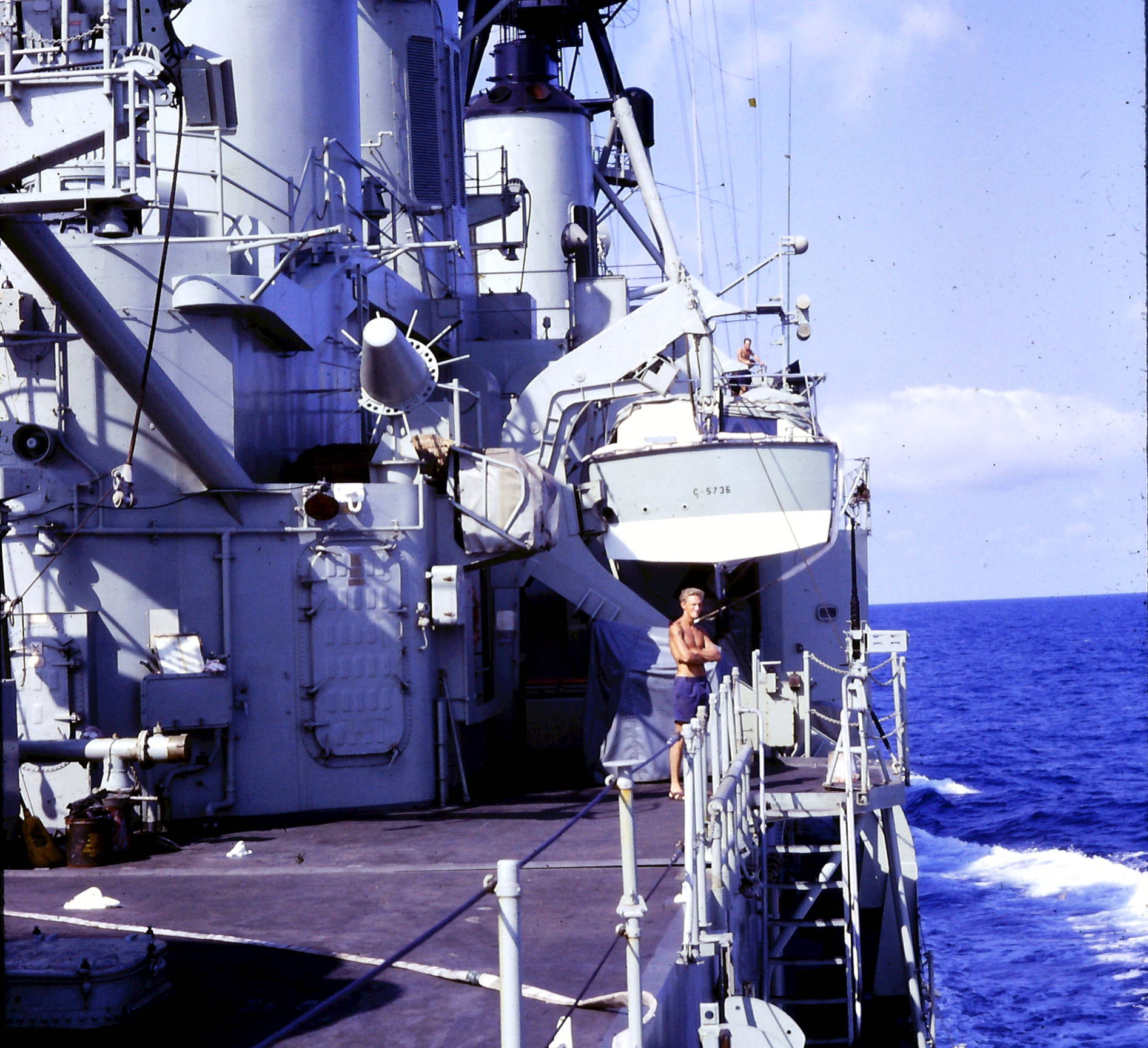 1968 HMAS Perth at sea Vietnam