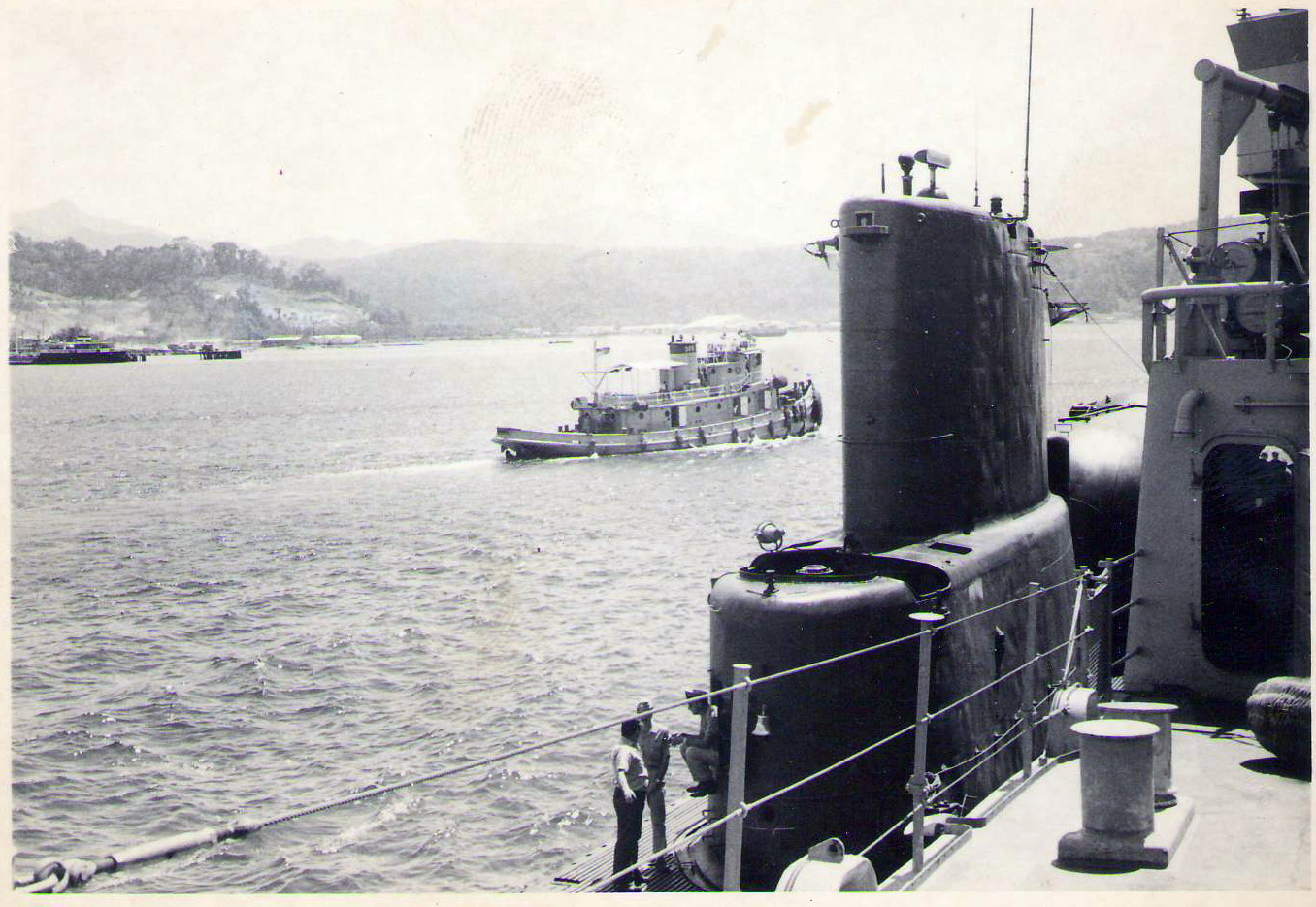 1969 US Sub alongside Subic Bay